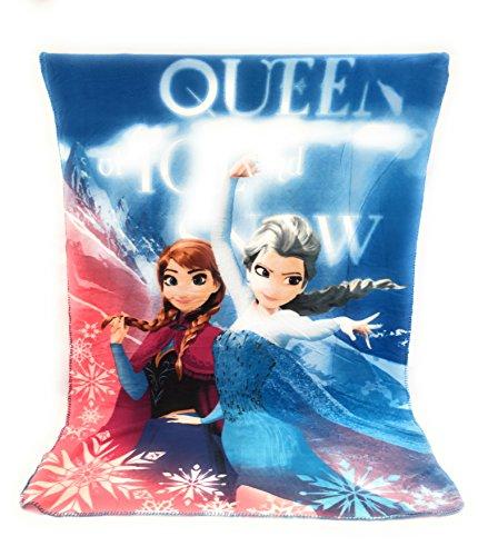 Reine des neiges Couverture Polaire - Plaid Polaire Enfant - 140x100 cm - Sublimation Double Face - 170 GR/m2 - Frozen Disney