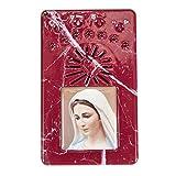 Holyart Rosario Rosso Marmorizzato Coroncina Divina Misericordia, S. Cuore di Maria