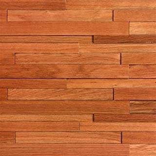 Nuvelle Deco Strips Paneling Gunstock 3/8 in. x 7-3/4 in. Wide x 47-1/4 in. Length Hardwood Wall Strips (10.334 sq. ft) NV2DS