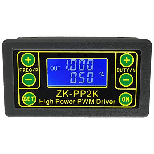 Jaimenalin ZK-PP2K PWM 3.3-30V 12V 24V Regulador del Controlador de Velocidad del Motor 8A 150W Dimmer LED Ajustable Frecuencia de Pulso RelacióN de Trabajo