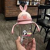 Biberón de bebé de dibujos animados Animal niños taza de beber Biberón de lactancia natural para el cuidado del bebé infantil Biberón 380Ml