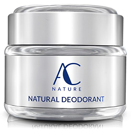 AC NATURE Deodorant, Organic and 100% Natural Ingredients, Aluminum Free, No Fragrances, Paraben Free, All Day Odor Protection for Women/Men, Unscented, 2.5 oz.