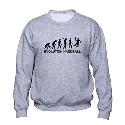 EUGINE DREAM Handball Evolution Sweatshirt Handball Pullover Handball Player Sweater Gift for Handball Player Mens Womens Unisex Sweatshirt Grau XL