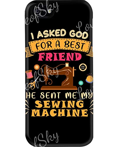 God Sent Best Friend Sewing Machine Phone Cases for Apple iPhone 7 Plus/8 Plus - Premium Scratch-Resistant, Shockproof Protective Cute Creative Artistic Design - Apple iPhone 7 Plus/8 Plus Case
