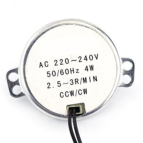 drehbar Synchronmotor 50/60Hz Frequenz AC 220~240V Getriebemotor CW/CCW 4W Mikrowelle(2.5-3RPM)