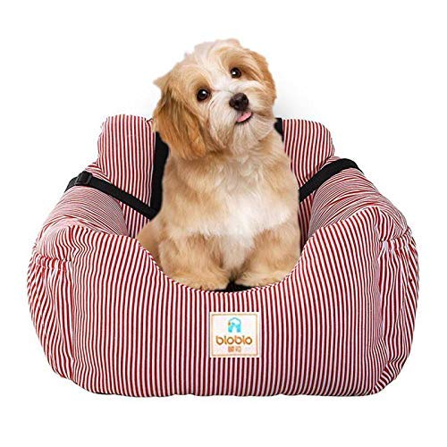 BO&CHAO Asiento Elevador de Perros, Asiento de Coche para Perros, Asiento de Coche para Perros, Asiento de Coche para Mascotas, Apto para Todo Tipo de Coches, Cama para Perro Multifuncional