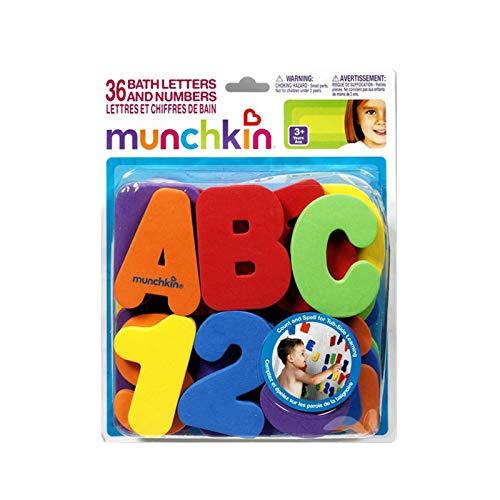 LQKYWNA Baño Letras alfanuméricas Números Rompecabezas para niños Juguete para bebés Juguetes de Agua para el baño Juguete Educativo temprano para niños 36 Uds