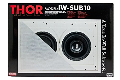 Earthquake Sound THOR 300W IN-Wall Subwoofer 20Hz Response