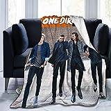 One Direction - Manta de invierno ultra suave de micro forro polar, manta ligera para sofá y cama de 127 x 101 cm