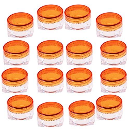FLAMEER Récipient Cosmétique Réutilisable En Plastique De Maquillage De Voyage De Bouteille De La Crème 5g A - Orange