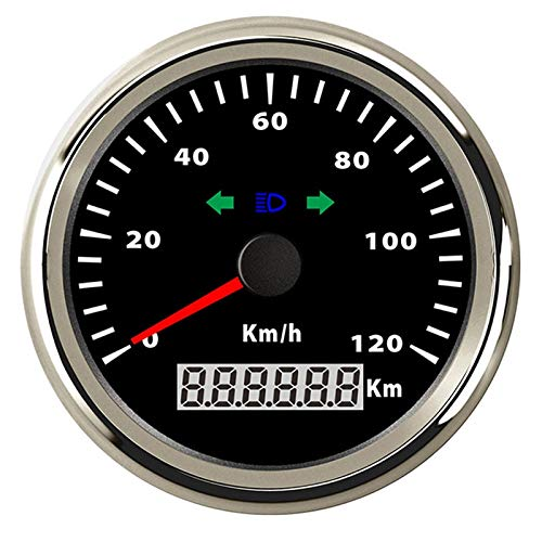 L.J.JZDY Velocímetro Barco Digital GPS del Coche del velocímetro 120 200 kmh Barra de Velocidad del LED Rojo for la Motocicleta del Barco del Coche a Prueba de Agua IP67