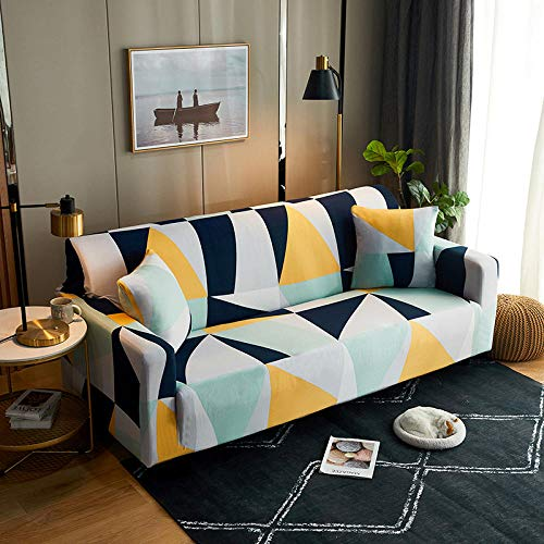 Sofa Covers 3 Seaters Multicolor Couch Cover Polyester Spandex Printed Sofa Slipcover Stretch Fabric Sofa Protector Couch Pet Protector,Settee Covers for Loveseat