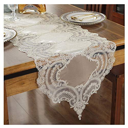 WXIAO Lace Tafelloper Bruiloft Decoraties Vintage Elegante stoffen decoraties voortreffelijke vaardigheid oogstfeest Dresser Afdekking Runner