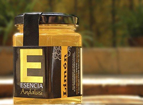 Miel 250 gr - 100{5c3d75785b125437b9903f242b70ca093276ef83835ea17f51b866e6d2463b0b} Pura de Abeja, Natural, Artesana, Producto de Jaén. Sabor excepcional por su gran pureza.(varios sabores) (Limón, 1 Unidad)