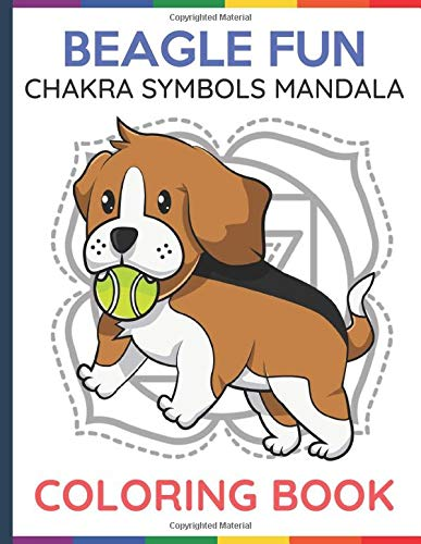 Beagle Fun Chakra Symbols Mandala Coloring Book: Adult and Kids Color Book with Dog and Puppy Carton