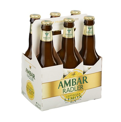 Ambar Radler Cerveza - Paquete de 6 x 330 ml - Total: 1980 ml
