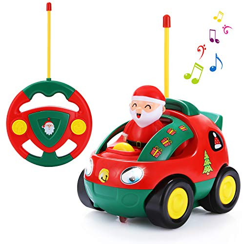 SGILE RC Cartoon Car Toy with Lights...