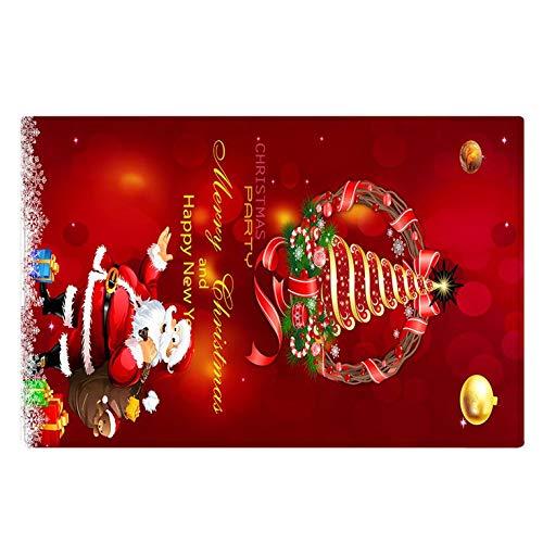 Wingbind Teppich rutschfeste Unterlage Teppich Wohnzimmer Kurzflor Fußmatte Innen Spaß Waschbar Weihnachten Home Dekoration