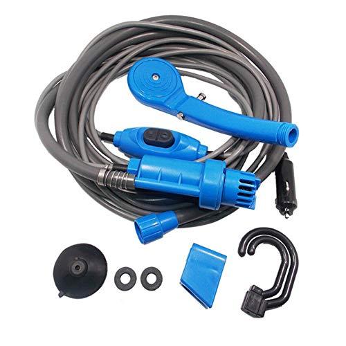 SSGLOVELIN 12V tragbare karawane Outdoor Show Set Handheld Waschmaschine Auto wasserpistole pumpe Reise Hund Hund nähen dusche Set rv Camper Zubehör (Color : Blue)