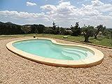 Coque Polyester Modèle Bordeaux 8x4x1.50 Formule ECO (GRIS CLAIR)