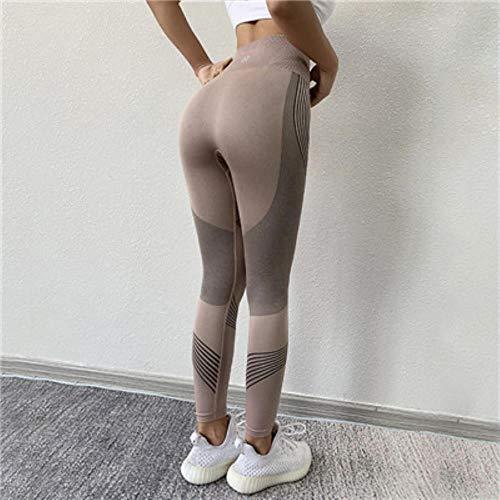HPPLYoga naadloze legging Gym yoga broek dames hoge taille yoga legging sport dames fitness kleding sportbroek dames sportkleding, roze yogabroek, S/M