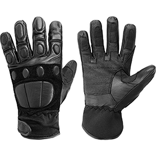 Commando Industries CI Polizei Schnitthemmende Handschuhe Md. Police II X-Tec aus Leder mit Protektoren Securityhandschuhe SWAT Motorradhandschuhe verschiedene Größen (XL)