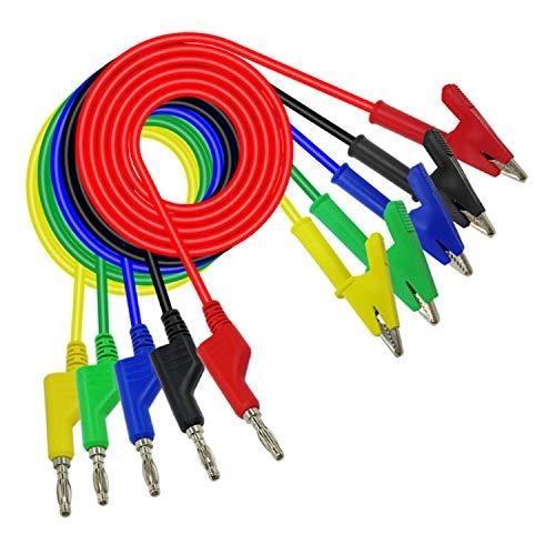 Detector de gas 4 gas 1M 4mm Banana Plug A Cocodrilo Clip Sonda de Prueba de Cable Cable de Prueba de Flujo de Agua Interruptor