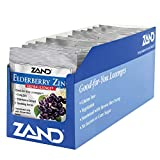 Zand HerbaLozenge Elderberry Zinc | Good-for-You Lozenges for Dry Throats | No Corn Syrup, No Cane Sugar, No Colors (12 Bags, 15 Lozenges)