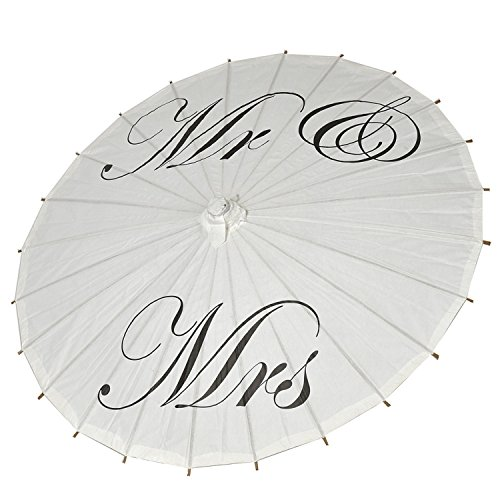 icase4u® Hochzeitsschirm Deko schirm Sonnenschirm Spitze Romantische Party Foto Requisiten Regenschirm Brautschirm Umbrella Spitzenschirm für die Hochzeit (Mr&Mrs)