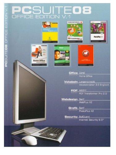 PCSUITE08 OFFICE EDITION V1 (OEM) - Corel Home Office, Langenscheidt Vokabeltrainer 3.0 Englisch, ABBY PDF Transformer Pro 2.0, Serif WebPlus X2, Serif PhotoPlus X2, BullGuard Internet Security 8.5