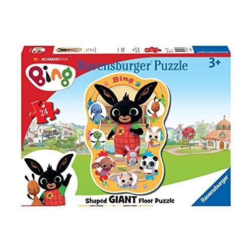 Ravensburger Puzzle Bing, 24 pezzi Giant Sagomati, per Bambini, Età Consigliata 3+