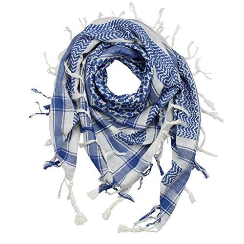 Superfreak Palituch - weiß - blau - 100x100 cm - Pali Palästinenser Arafat Tuch - 100{385b527c3488861a12fbadf759d2c8669f069ba5e964b7756c66d06fdb89b49e} Baumwolle