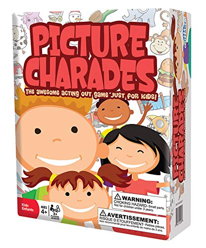 Picture Charades - Acting Out Party Game for Kids Ages 4 and up - No Reading Required - Made in The...