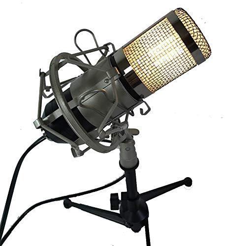 JAY Mikrofon Schreibtischlampe-Retro Industrie Kreative Wohnzimmer Schlafzimmer Tischleuchte Rustikale Coffee Shop Bar Club Dekoration Tischleuchte