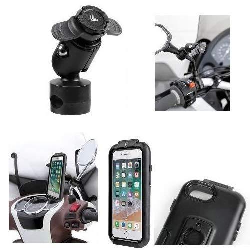 Compatible con Yamaha Majesty 125 YP Soporte para Smartphone TELÉFONO ESPECÍFICO para...