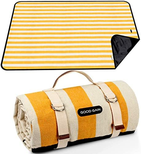 GOOD GAIN Picnic Blanket Waterproof Sand Proof Beach Blanket Portable with Carry Strap XL Large product image