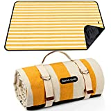 Picnic Blanket Beach Blanket Portable with Carry Strap, Large Foldable Picnic Rug Machine Washable for Outdoor Camping Party,Wet Grass,Hiking,Kids Playground.