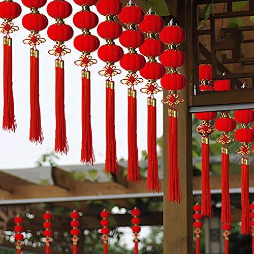 Lot de 30 lanternes chinoises rouges à suspendre pour mariage, Nouvel an, festival de printemps, extérieur, jardin, arbre
