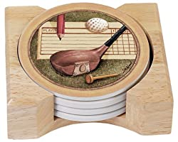 Wooden Golf Coasters