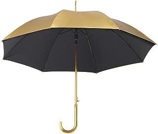 Metallic Automatic Push Umbrella with Crook Handle - Wedding Brolly Walking
