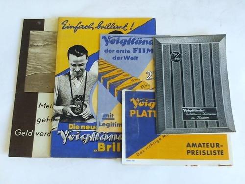 Voigtländer Jubiläums-Kameras für Platten. 175 Jahre / Voigtländer der erste Film der Welt mit Legitimation / Die neue Voigtländer