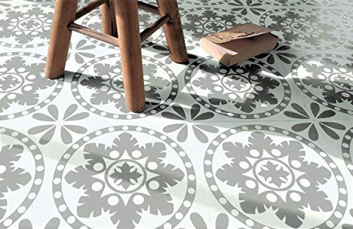 Zazous Sorzano Sage - Azulejos de vinilo autoadhesivos para suelos