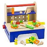 VIGA- New Classic Toys-1802-Imitazione di Gioco-Strumento e Stabilito Portable-Pieghevole, Colore Blu, 59869