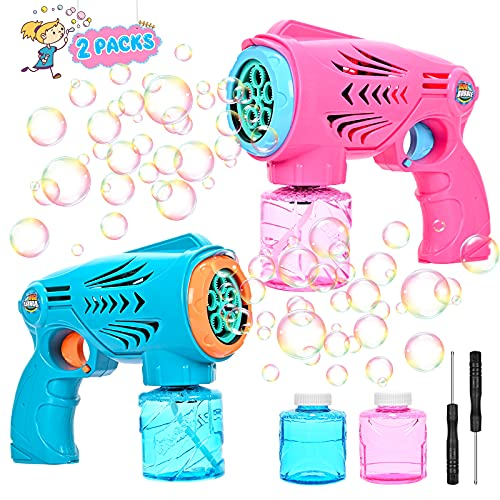 Kiddopark Bubble Machine Bubble Toys for Kids with 4 Bottles Bubble Maker Solution 5000+ Bubbles per Minute,Bubble Blower for Outdoor Baby Pre-Kindergarten Girls Boys Birthday Gift Party Wedding