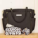 Petunia Pickle Bottom City Carryall Black Matte Leatherette