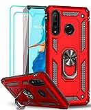 LeYi Coque pour Huawei P30 Lite/P30 Lite XL New Edition avec 2 Verre trempé, Anneau Support...