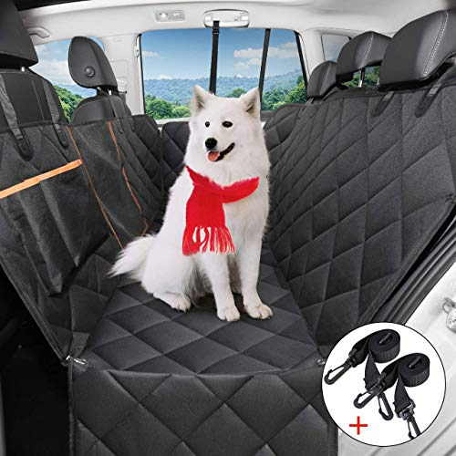 OMORC Dog Car Seat Cover, Waterproof and Resistant Dog Car Cover, Dog Car Protector with Flexible Grid Pass Air, Universal for SUV, Truck, Transport and Travel