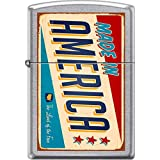 Zippo Made In America Sign Retro Rusted Wind Proof Pocket Lighter Street Chrome Finish Brand New in Original Zippo packaging Made in the USA Zippo Liftetime Guarantee
