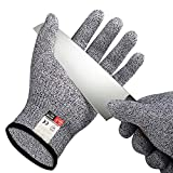 3 Pairs Of Cut Resistant Gloves, Food Grades, Level Protection 5, Safety Cutting Gloves For Kitchen, Mandolin Slicing, kevlar Gloves, Fish Fillet, Oyster Shucking, Meat Cutting And Wood Carving