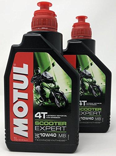 Aceite Moto 4 Tiempos - Motul Scooter 4T 10W-40 MB, 2 litros (2x 1 lt)